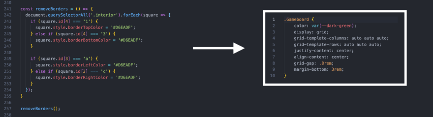 Refactored CSS in JS to CSS