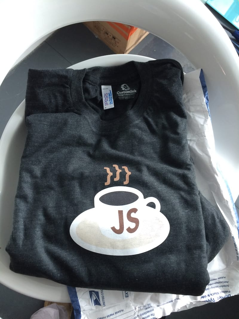 The KopiJS t-shirts