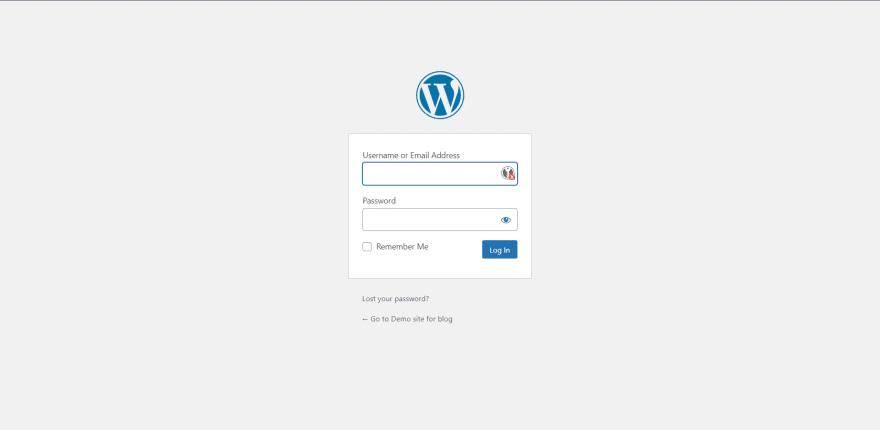 WordPress - login form
