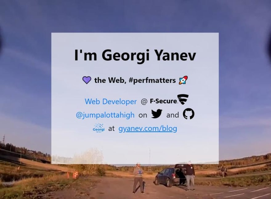 Georgi's business card