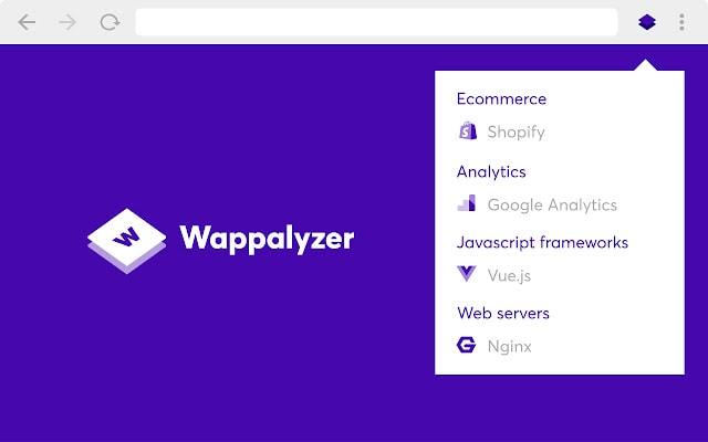 Wappalyzer Chrome Extension