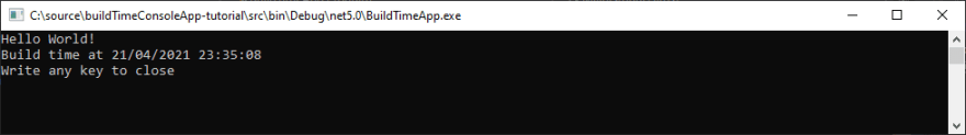 Add Build Time to your C# Assembly