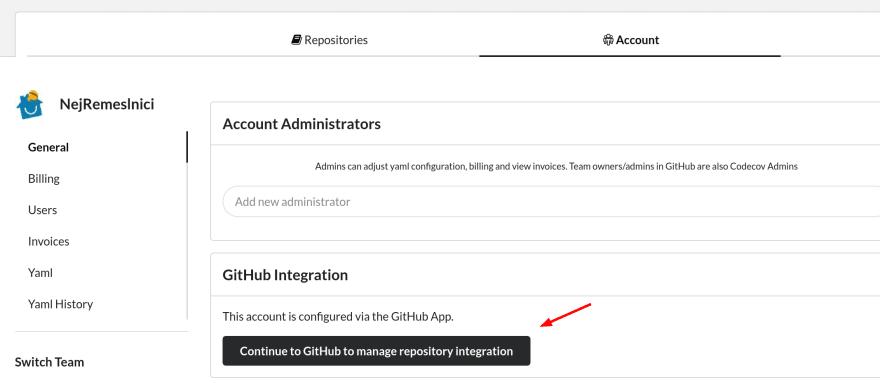 Codecov GitHub integration