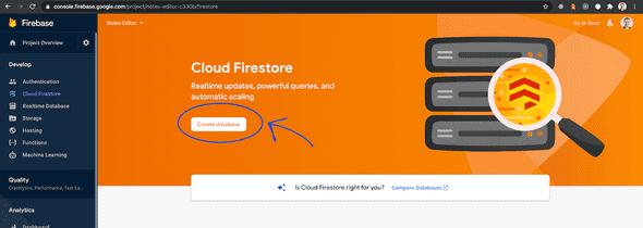 Create Firestore database