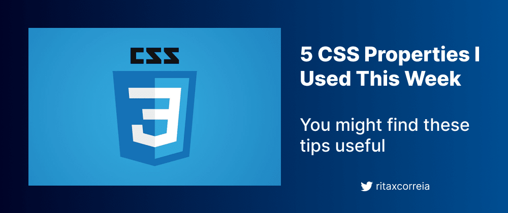 Cover image for 5 CSS Tricks I Used This Week
