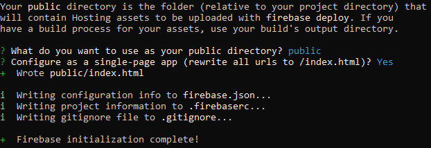 Firebase - New Project, console screen 5.