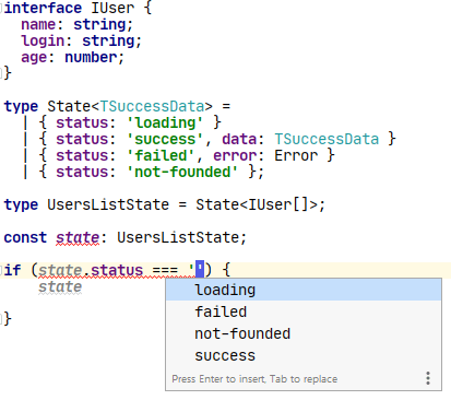 Code completion example