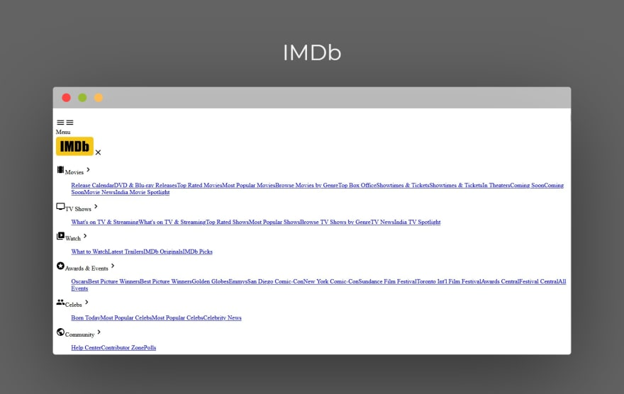 IMDb website