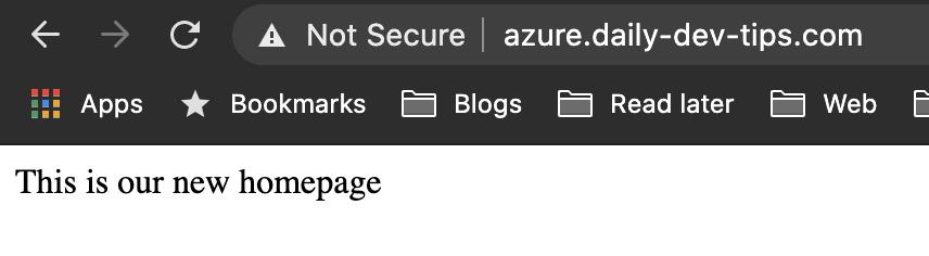 Azure custom domain