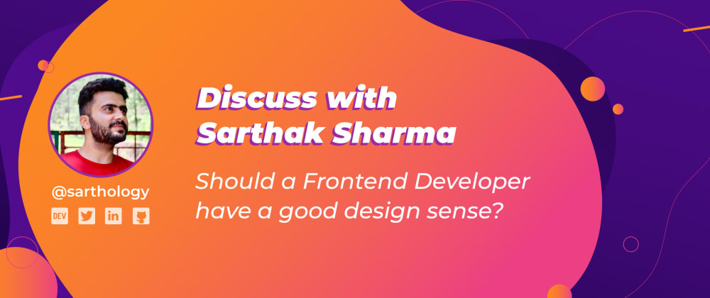 Cover image for Should a Frontend Developer have a good Design Sense?