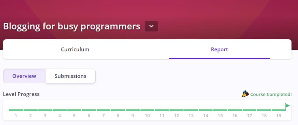 """Cover image for O tym jak """"Blogging for busy programmers"""" przekonało mnie do blogowania"""