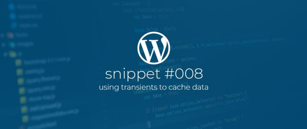 Cover image for WP Snippet #008 Using transients to cache data.