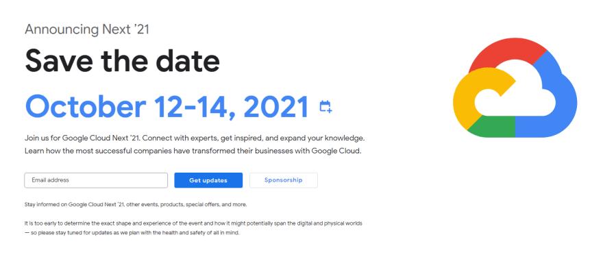 Google Cloud Next'21 Developer Conference