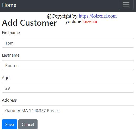 Project Goal - Add a Customer