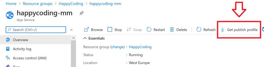 HelloHappyCoding-AzurePublishingProfile.png