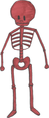 Grambly is a weird looking red skeleton. He loves God and hates cops. Amen.