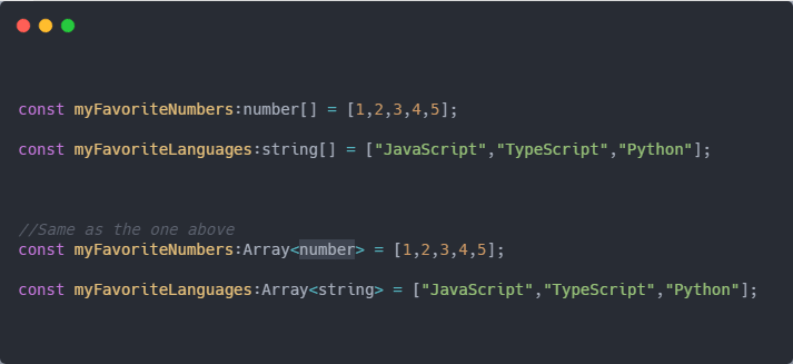 Array with Types
