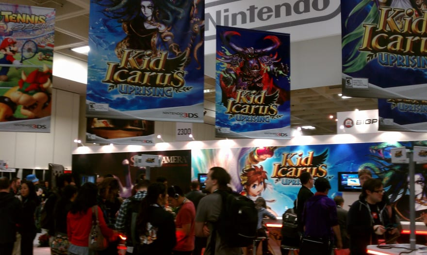 Nintendo's Booth Was huge and absolutely buzzing