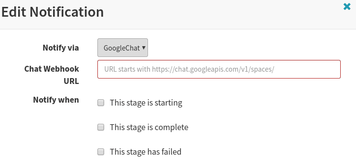 GoogleChat settings