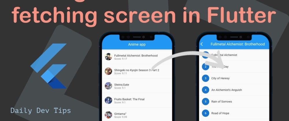 Cover image for Adding a detail data fetching screen in Flutter