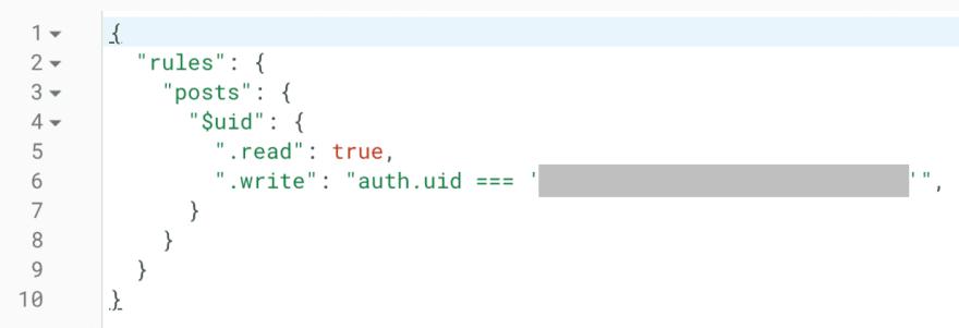 Database rules