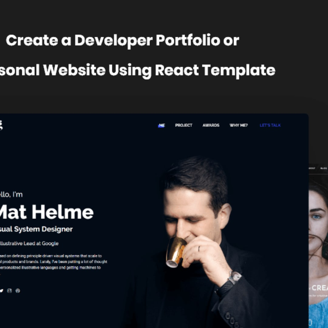 How To Create Your Portfolio Website Using React Js Template Dev