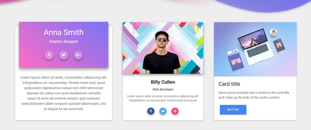 Cover image for 27 Bootstrap Cards
