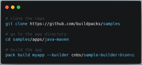 Buildpacks commands