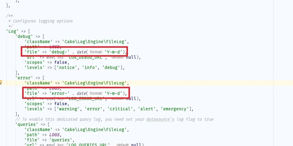Changing the log to daily in CakePHP 3 x - DEV Community