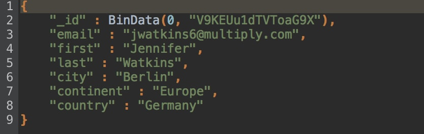 The _jd field in JSON preview looks a bit funny