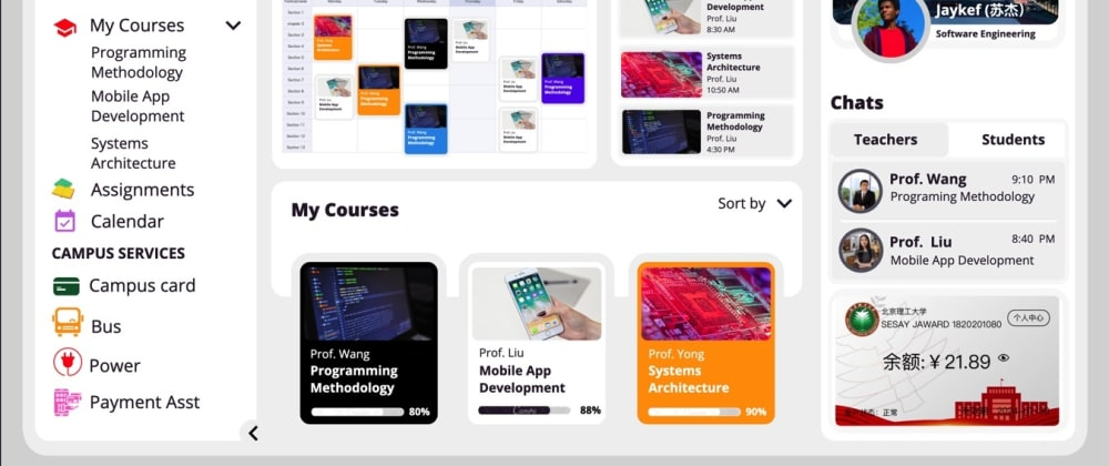 Cover image for University Student Dashboard UI