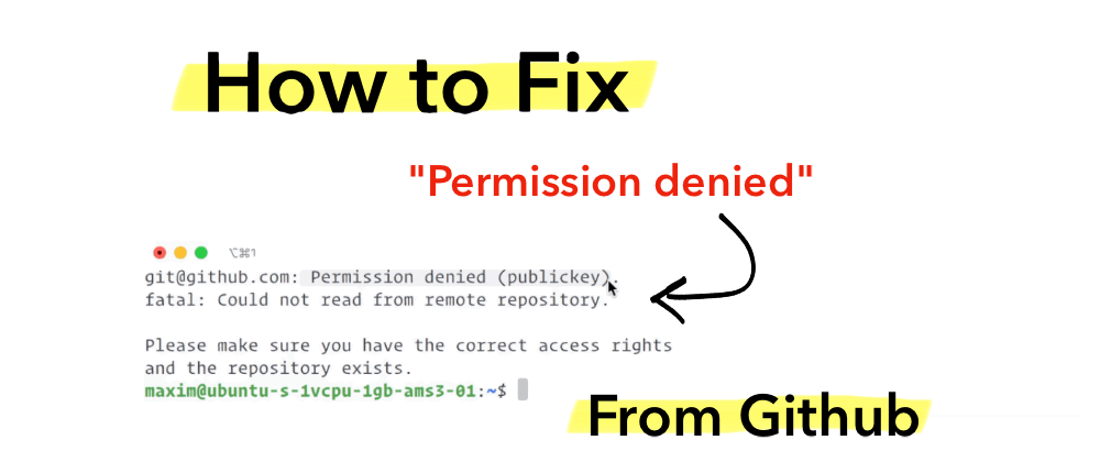 "Cover image for Fix ""Permission Denied"" Error From Github"