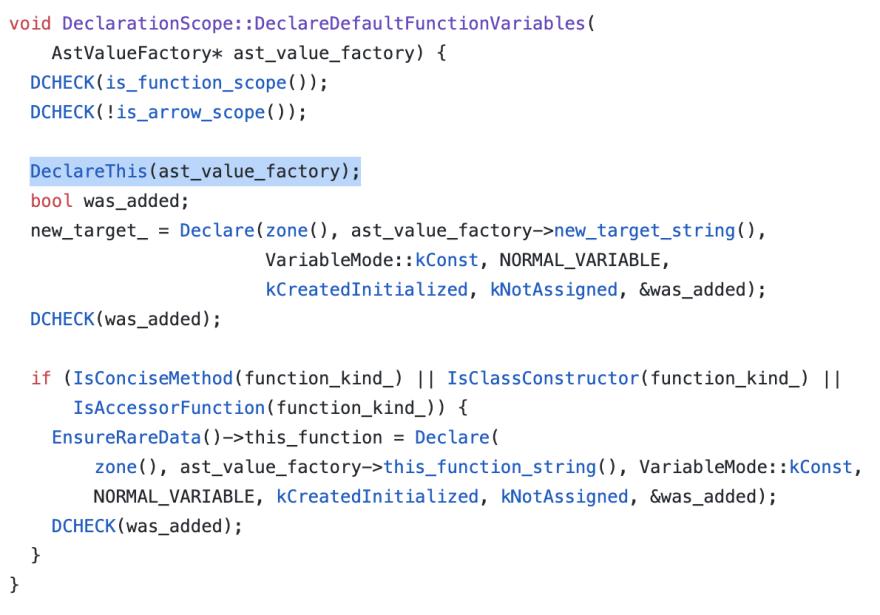 Declare Function Source Code