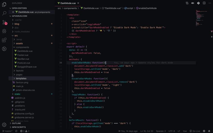 Celestial VS Code theme