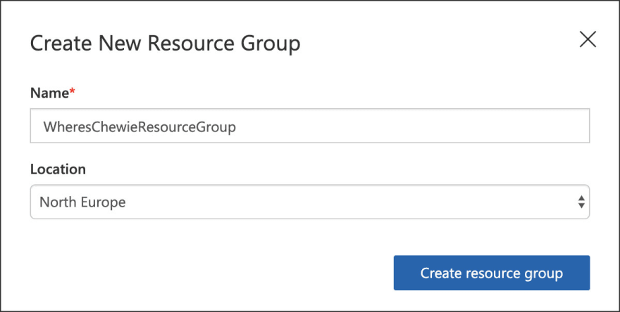 New resource group