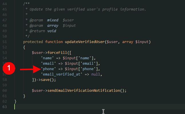 add field to save function array