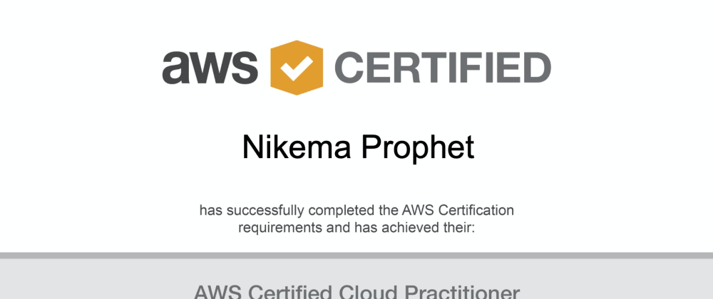 Cover image for #NikemaLearns About AWS – #4 Officially AWS Certified