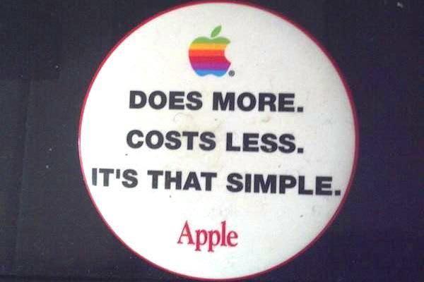 An Apple Slogan that Aged like Milk