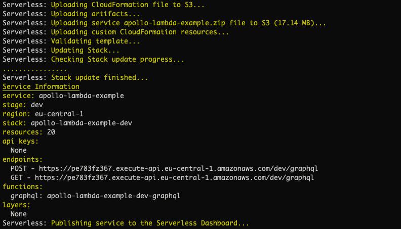 serverless deployment