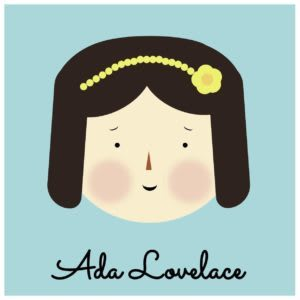 Cartoon Ada Lovelace image made with CSS