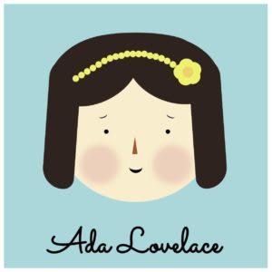 Cartoon Ada Lovelace image made with CSS