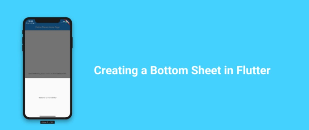 Cover image for Creating a Bottom Sheet in Flutter