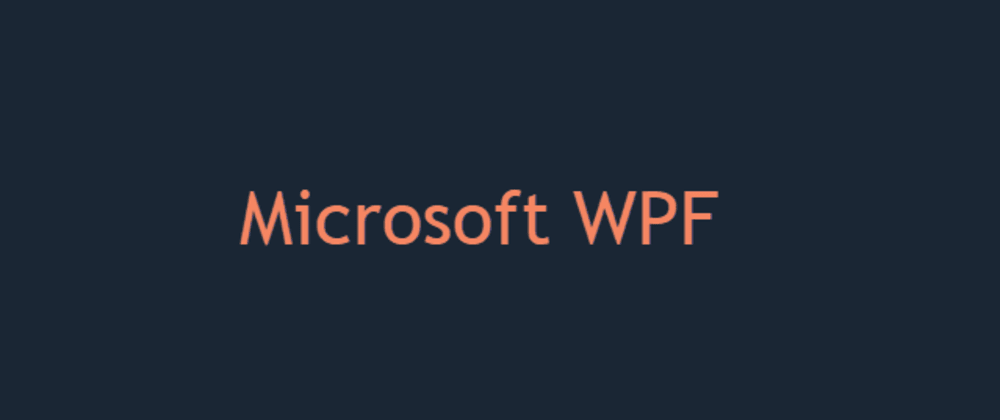 Cover image for WPF XAML Code Snippets