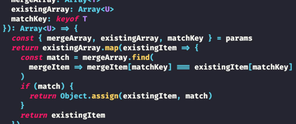 Cover image for Advanced TypeScript: A Generic Function to Merge Object Arrays
