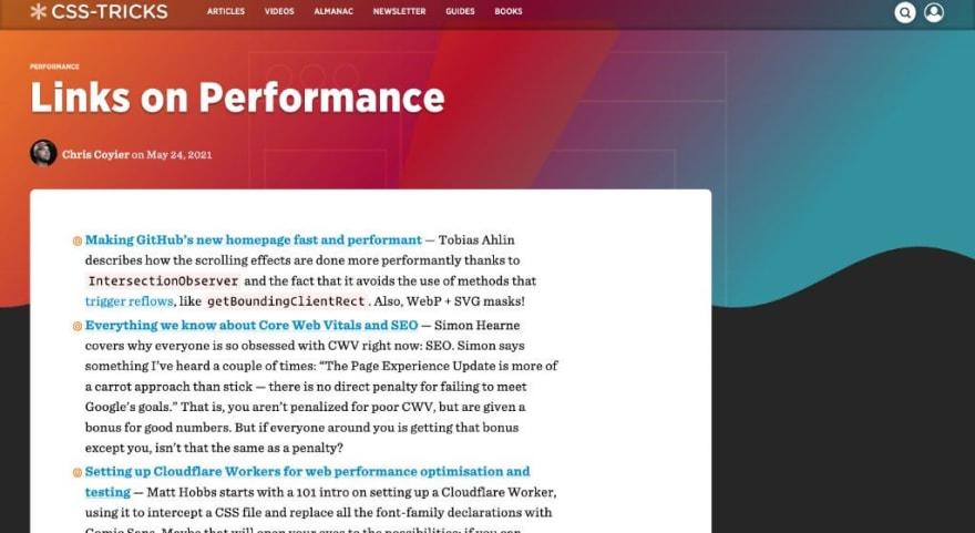 Links on Performance