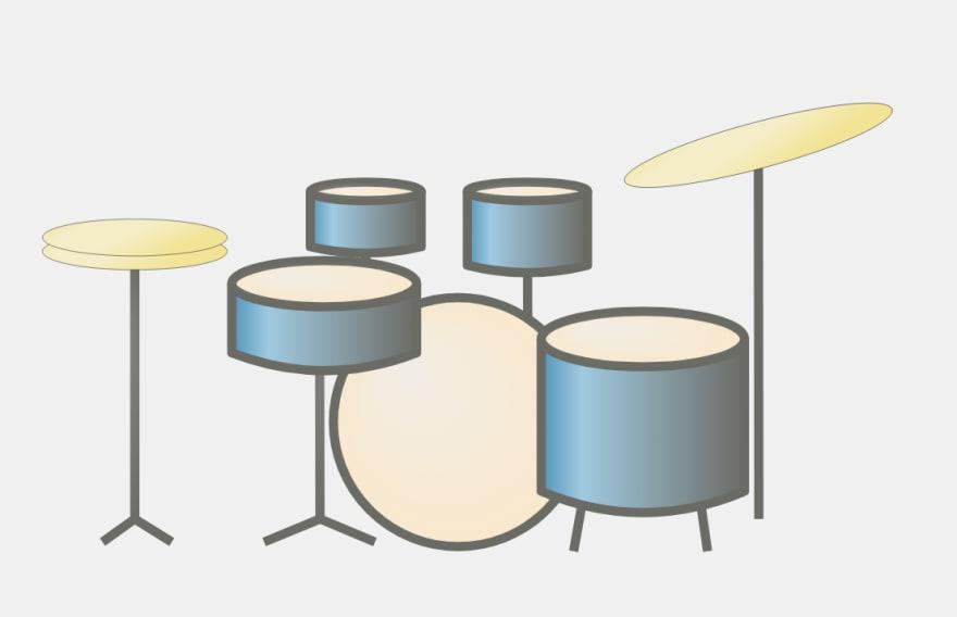 SVG Drum kit