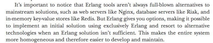 Erlang disclaimer from the book Elixir in Action