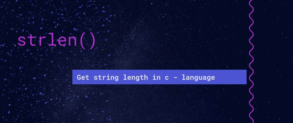 Cover image for How to find the length of a string using strlen in C
