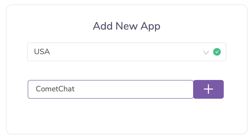 Creating a CometChat account