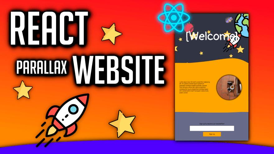 React Parallax Website Design